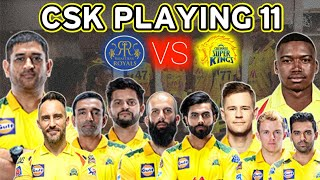 IPL 2021: CHENNAI SUPER KINGS PLAYING 11 FOR 3rd MATCH AGAINST RAJASTHAN ROYALS | CSK VS RR IPL 2021