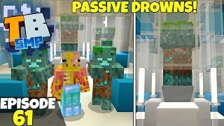 Truly Bedrock Episode 61! Passive Drowned Trident Farm!? Minecraft Bedrock Survival Let's Play!