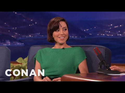 The Origin Of Aubrey Plaza's Awkwardness   CONAN on TBS