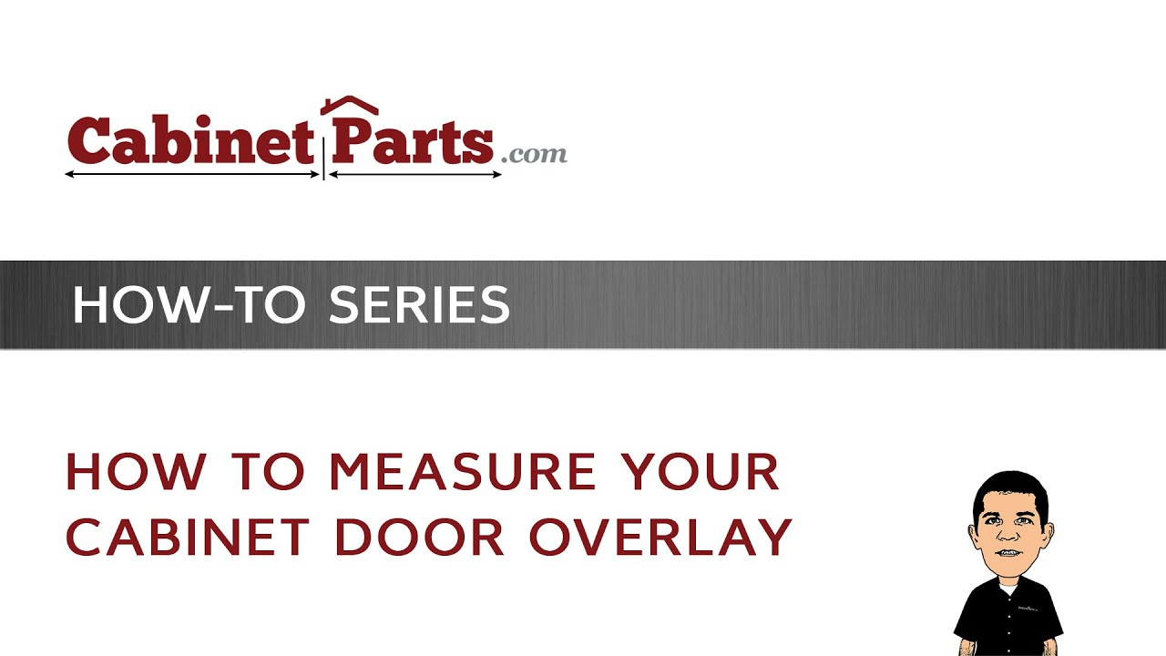 How To Measure Your Cabinet Door Overlay Youtube
