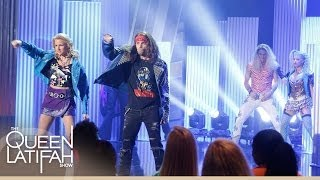 "The Rock of Ages Cast Performs ""Here I Go Again"" on The Queen Latifah Show"