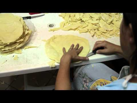 Sardegna traditional bread making