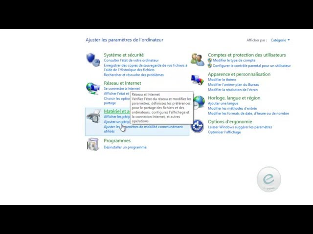 Windows 8 : Leçon  9 : (1) Panneau de configuration لوحة التحكم