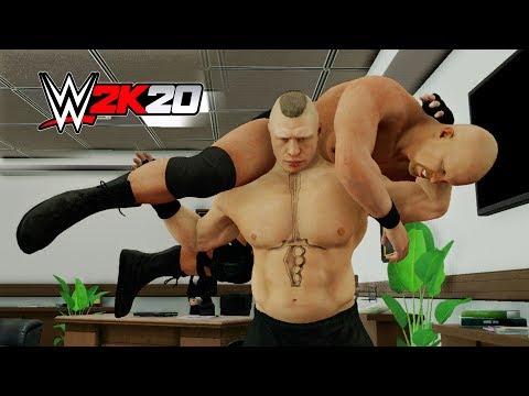 WWE 2K20 - Brock Lesnar F5 Compilation!