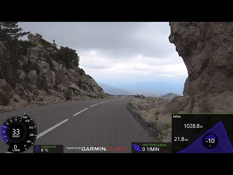 Garmin 90 Minute Uphill Cycling Training Workout Mont Caro Spain Full HD