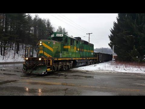 Green Mountain Railroad - GP-9 in Downtown Montpelier