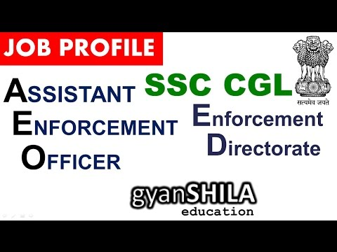 AEO in ED  Job Profile SSC CGL 2017 Exam