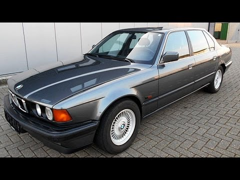 BMW 750iL 5.0 V12, model year 1987 - YouTube