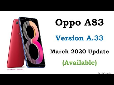 Oppo A83 | Version A.33 Update Available | March 2020 Update Available | Latest Update Available