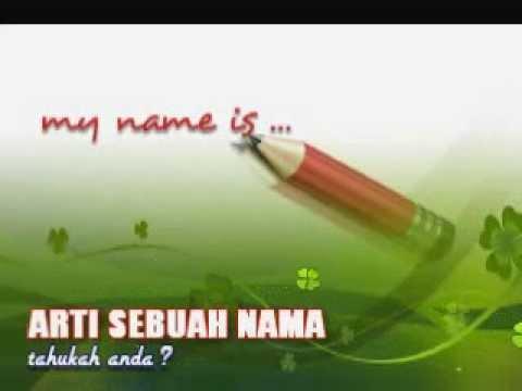 ARTI SEBUAH NAMA