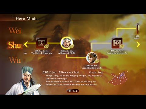 Romance of the Three Kingdoms XIII - Complete Guide Hero Mode Zhuge Liang Alliance of Chibi