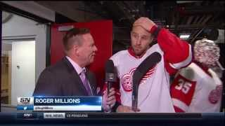 Riley Sheahan Second Intermission interview vs Flames
