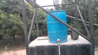 My low cost sack with drip irrigation farming