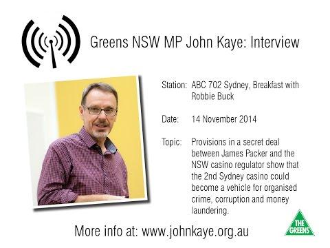 John Kaye interview ABC 702: secret casino documents revealed
