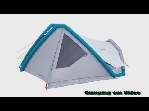 barraca air seconds family 6 3xl quechua doovi. Black Bedroom Furniture Sets. Home Design Ideas