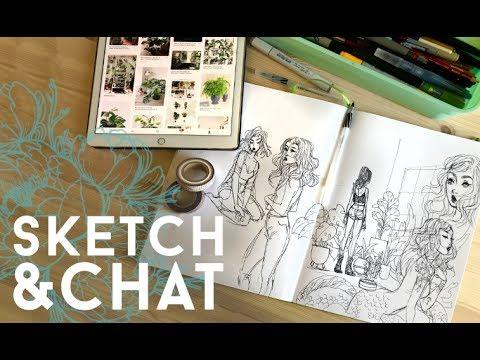 SKETCH & CHAT // jacquelindeleon