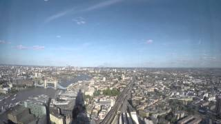 Silver Cloud London Bridge Timelapse from the Shard 7th June 2015