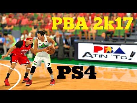PBA 2K17 PS4: Globalport Batang Pier vs Barangay Ginebra FULL GAMEPLAY