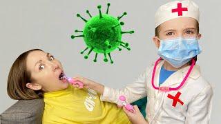 Маша и мама и история про микробы и чистые руки