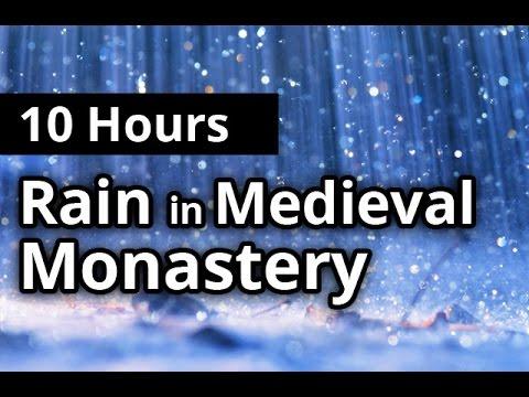 10 Hours Relaxing RAIN & Thunder in Medieval Monastery - Rainfall SLEEP SOUNDS
