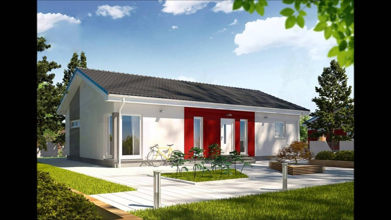 Maison en ossature bois de plain pied youtube for Plan de maison 200m2