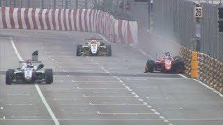FIA Formula 3 World Cup 2018. Q1 Macau Grand Prix. Sena Sakaguchi Crash