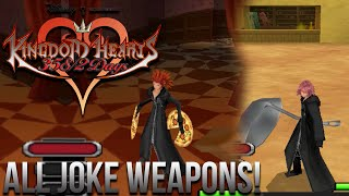 Kingdom Hearts 358/2 Days - All Character Joke Weapons