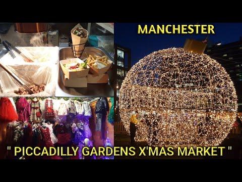 MANCHESTER CHRISTMAS MARKET & FESTIVE LIGHTS || LIGHTOPIA PICCADILLY GARDENS || HOLIDAY SEASON 2019