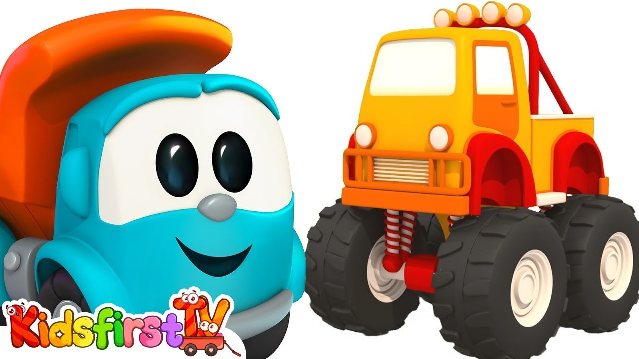 Leo The Truck And Monster Truck Leo The Truck Cartoon For Kids