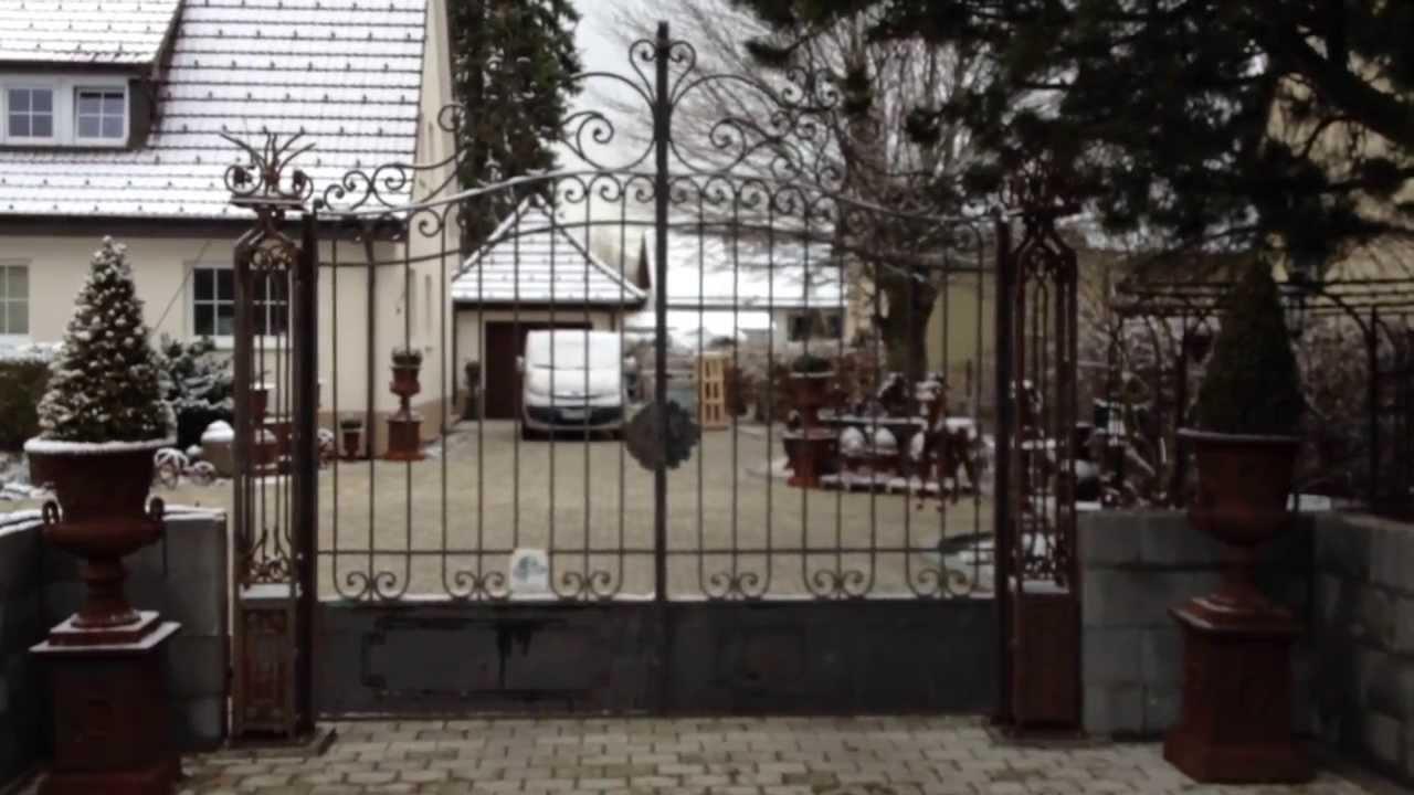 Nostalgisches eisentor doppelfl geltor hofeinfahrtstor - Antikes gartentor ...