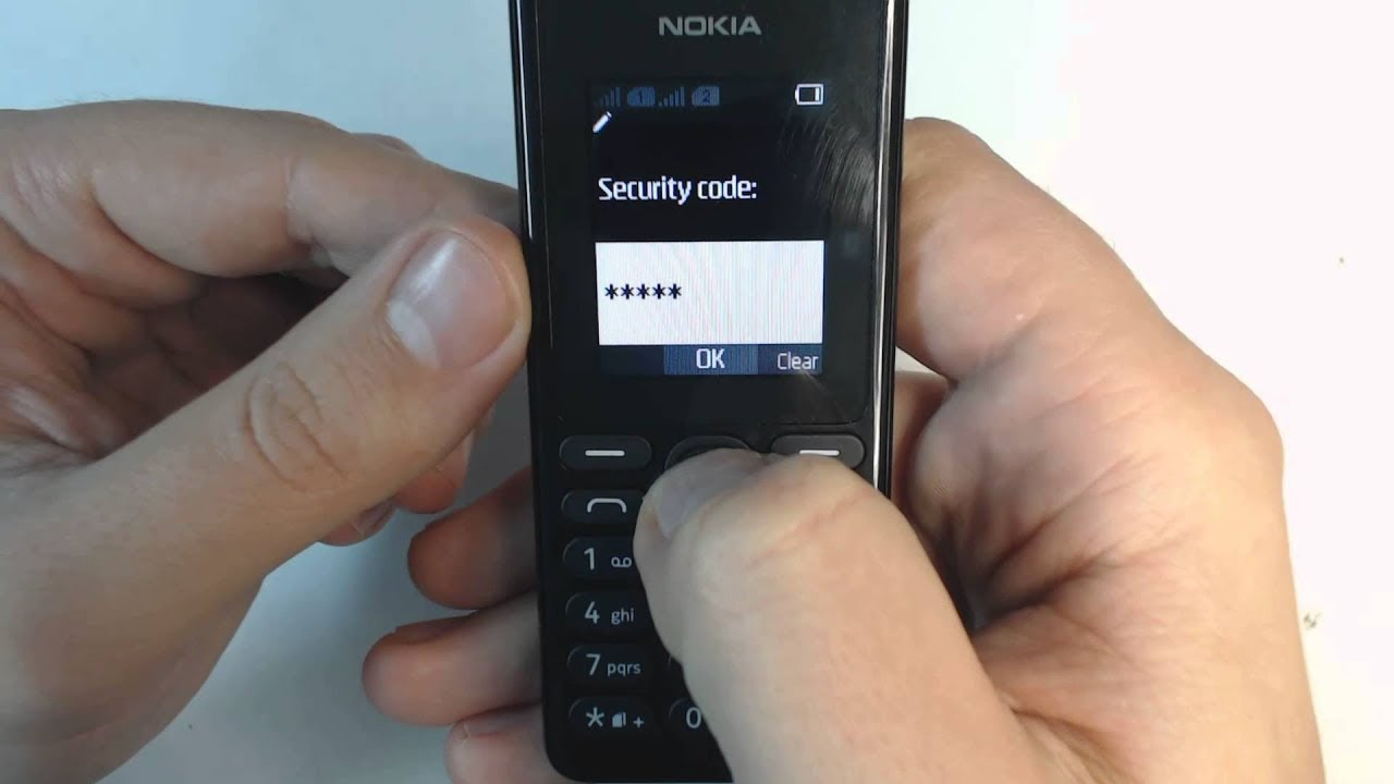 How to unlock Nokia 105 RM-1133