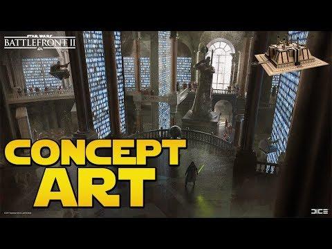 NOUVEAUX CONCEPT ARTS - Bibliothèque Royale Naboo (Future Map?) | Star Wars Battlefront 2