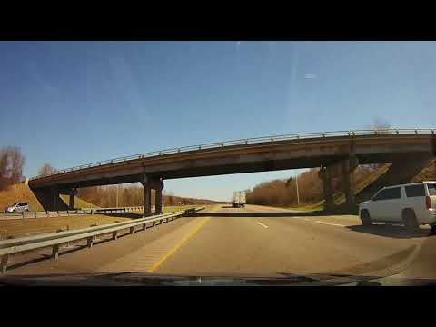 Driving on Interstate 40 from Fort Smith, AR to Little Rock, Arkansas