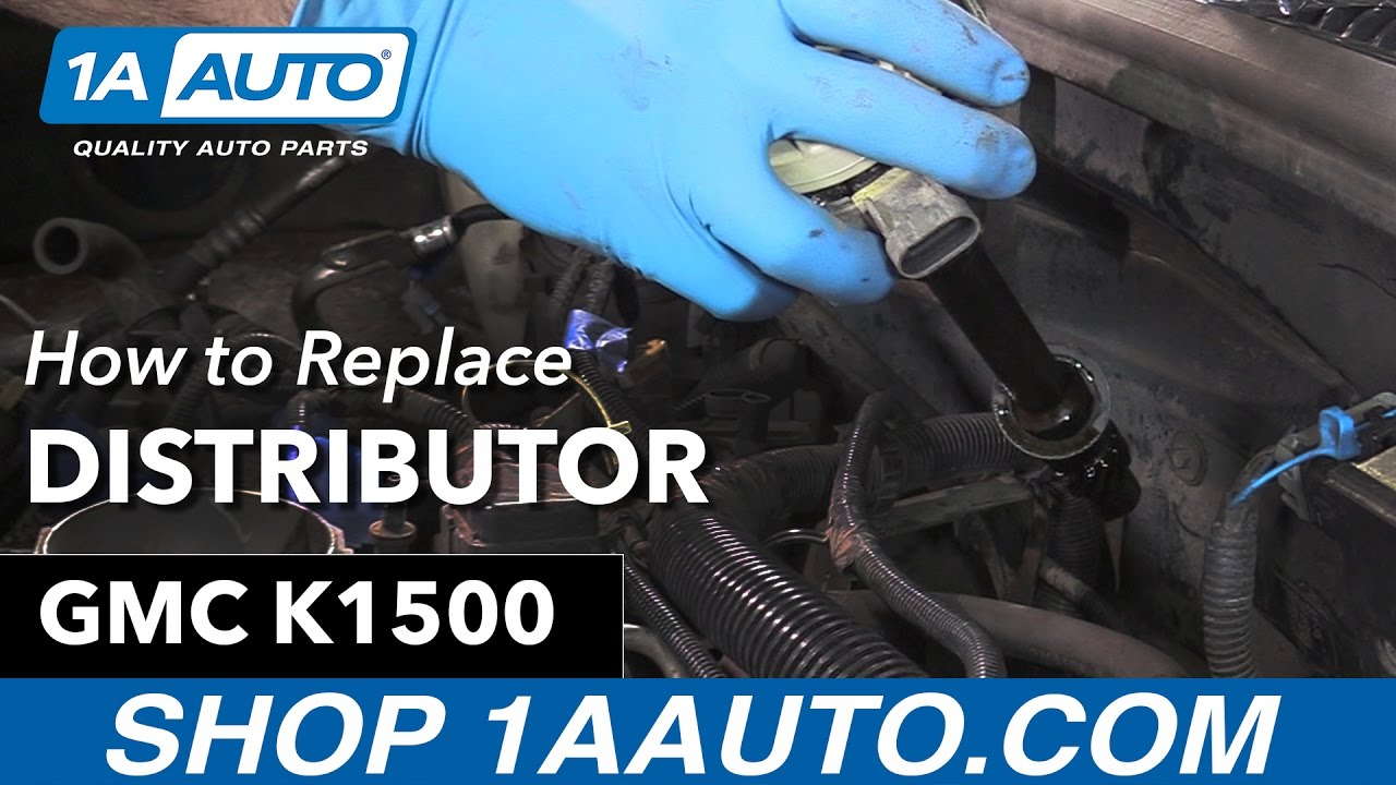 hight resolution of how to replace distributor 96 99 gmc sierra k1500