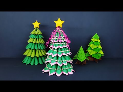 Amazing Crafts for Christmas Decor | How to Make 3D Paper Christmas Tree
