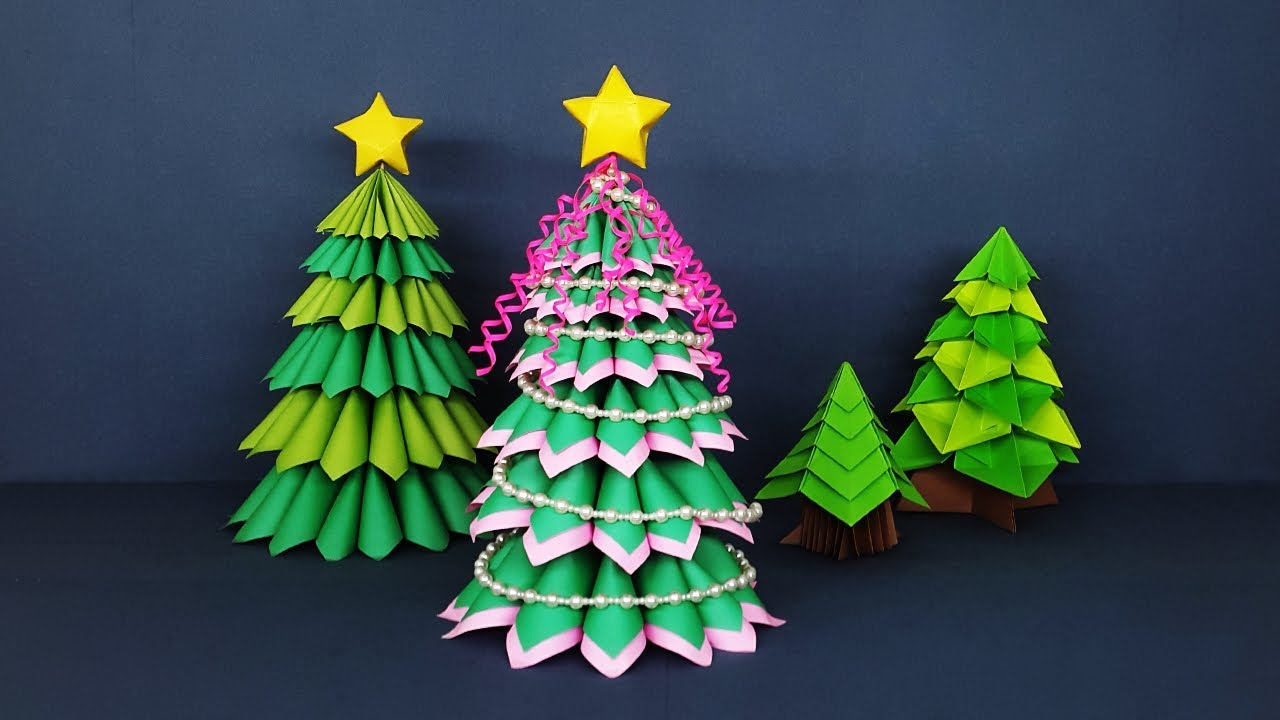 3d Paper Christmas Tree.Amazing Crafts For Christmas Decor How To Make 3d Paper Christmas Tree