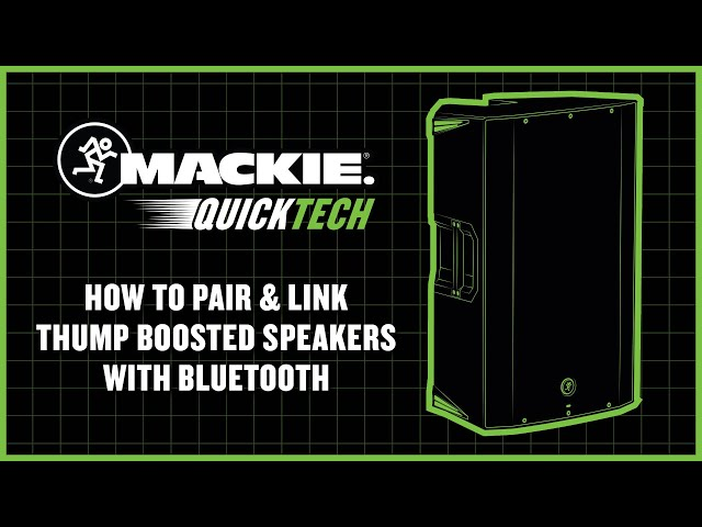 How To Pair & Link Thump Boosted Speakers with Bluetooth