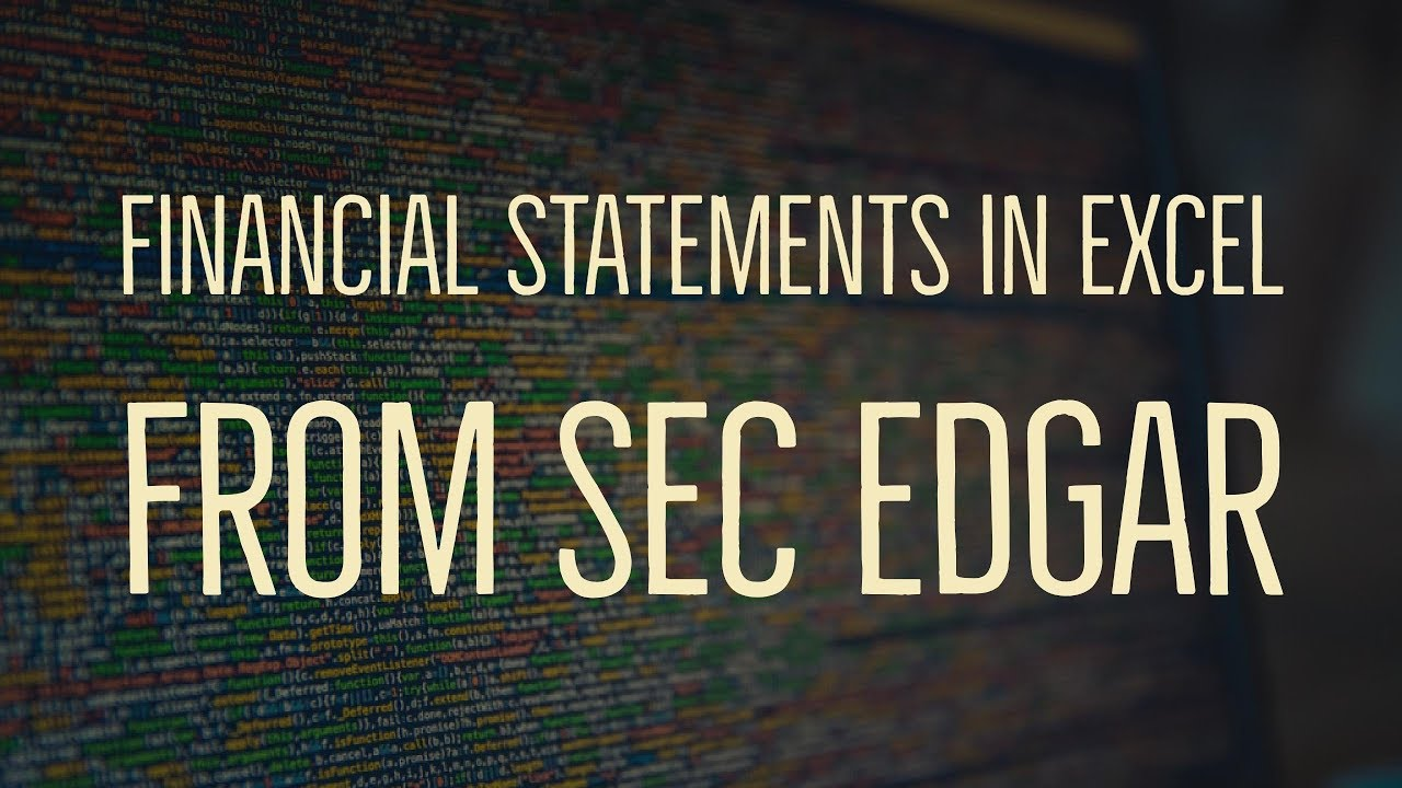 downloading financial statements in excel format from sec edgar