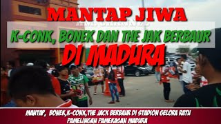 Download Video MANTAP,  BONEK,  K-CONK DAN THE JAK BERBAUR DI MADURA || MADURA UNITED VS PERSIJA 2018 MP3 3GP MP4