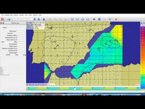 ⛵ Premiere navigation solo á bord de Souls. La Météo pour une navigation de 400 NM... 🌎