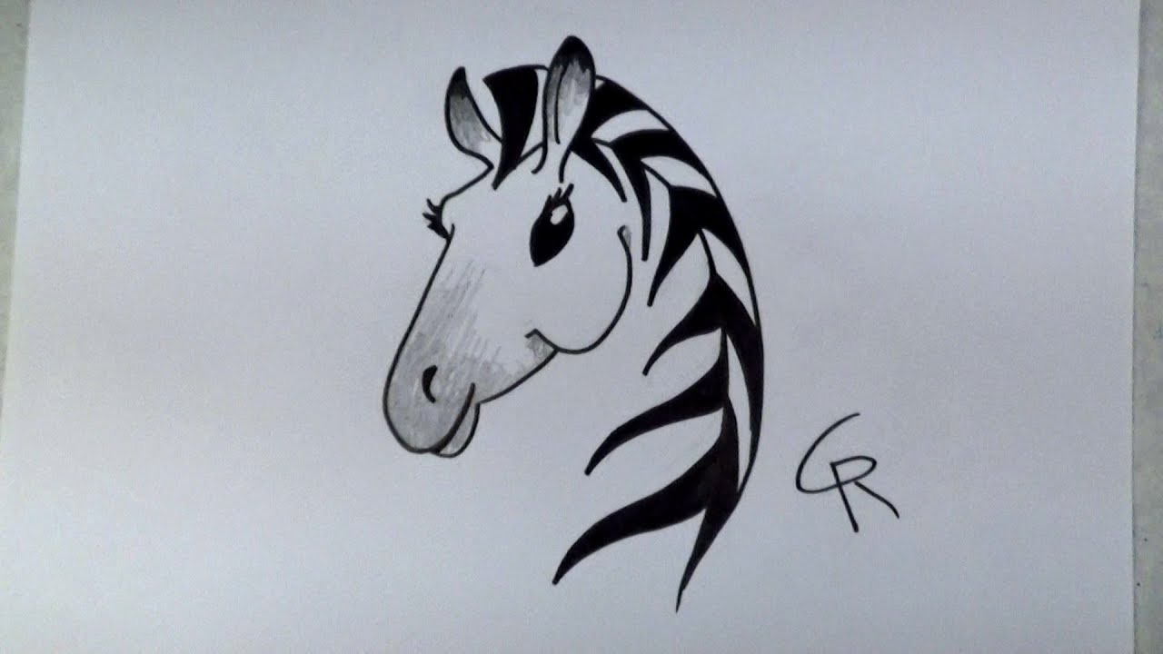 learn how to draw a stylish cartoon zebra icanhazdraw youtube