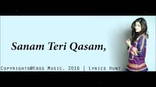Sanam Teri Kasam Title Song Full Song   Ankit Tiwari & Palak Muchhal   With Lyrics   YouTube