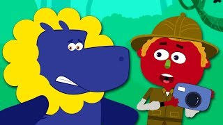 Guess Funny Missing Faces Of Wild Animals   Nursery Rhymes Baby Songs by Teehee Town
