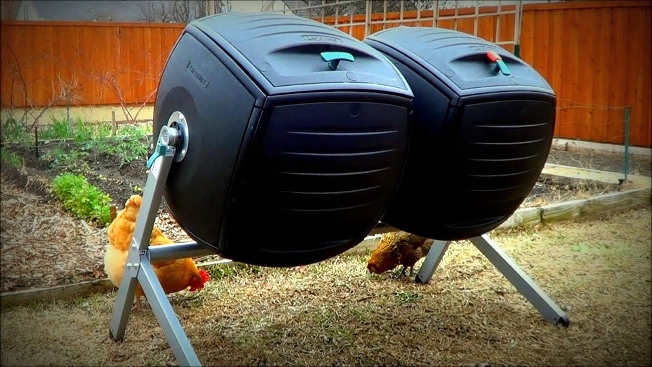 Kitchen Composter Ikea Countertop Composting With The Lifetime Dual Compost Tumbler To ...