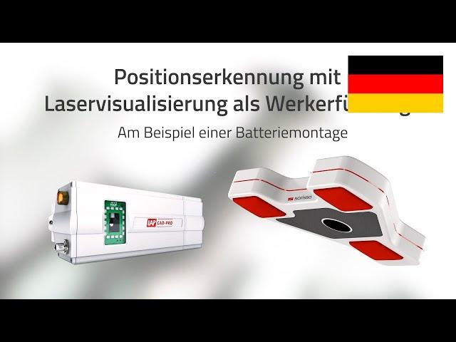 Positionserkennung mit Laservisualisierung als Werkerführung