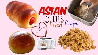 How to FLUFFY Asian milk Bread Buns Recipe TANGZHONG Breville Custom Loaf Pro BBM800 bread maker