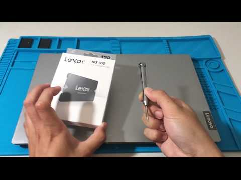 How to add a new 2.5 inch Lexar SSD to Lenovo ideapad S145 Laptop