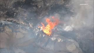 Vegetation Fire On Westbound SR-54 Freeway 10/7/2017