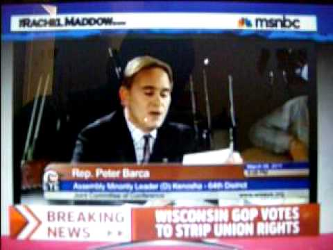 The Rachel Maddow Show: Wisconsin GOP ram through vote to strip union rights