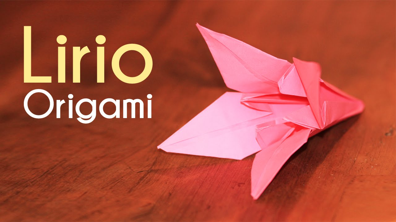 Como hacer flores de papel lirio de origami flores origami - Como hacer farolillos de feria ...